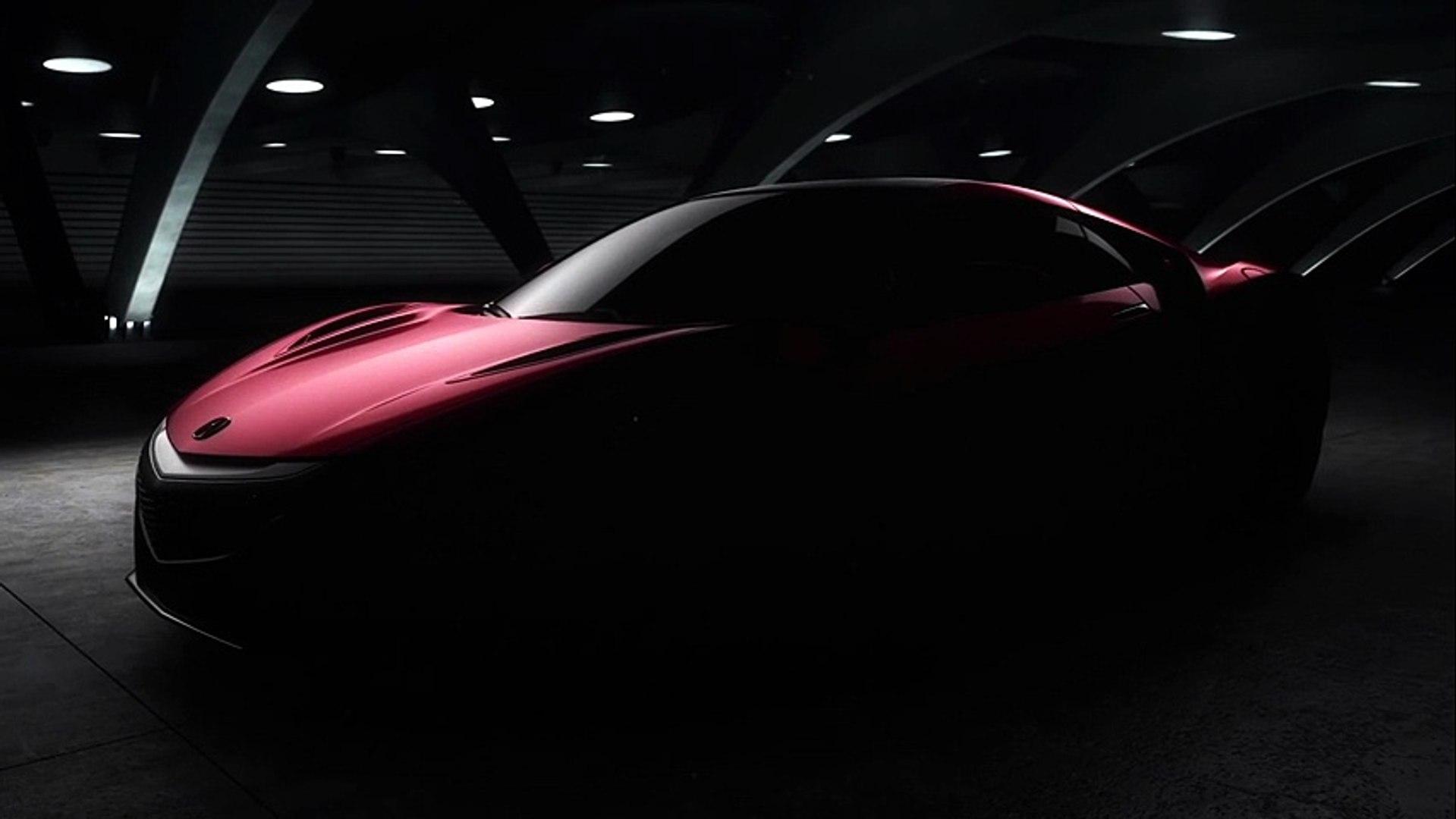 Premier teaser de l'Acura NSX attendue de série en janvier 2015 à Detroit