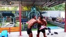 Ces deux boxeurs thaïs vont finir hors du ring jusque sur le parking