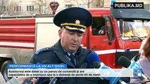 Primăria Chișinăului a procurat de la o companie finlandeză  cea mai performantă autospecială. Trei minute. Atât le va trebui pompierilor să ajungă la etajul 25 pentru a stinge un incendiu. A costat peste 25 de milioane de lei.
