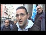 Napoli - La protesta dei lavoratori dell'indotto Banco di Napoli (17.12.14)