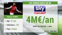 Top 10 des salaires des consultants sportifs - Henry un des mieux payés au monde