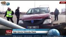 Ağrı Çevre Yolunda Trafik Kazası