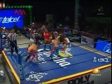 Jack Evans vs Teddy Hart, Juventud Guerrera, Psicosis for the AAA World Cruiserweight Championship