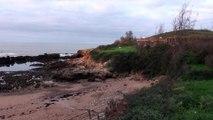 Paisajes de Asturias: Ocaso hoy 18 Dic en la playa de Huelgues