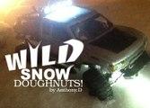 SNOW SCALIN DOUGHNUTS! Axial scx10 TRAIL HONCHO SNOW ACTION