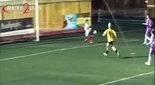 Gol atınca kadın olduğunu unutan futbolcunun gol sevinci