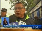 Desalojaron a comerciantes informales en el centro norte de Quito