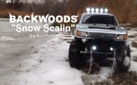 "BACKWOODS 66 ""SNOW SCALIN"" - Custom Axial Trail Honcho in Snow, Water"