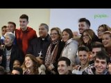 """Napoli - Il cardinale Sepe in visita alla scuola """"Galiani"""" (19.12.14)"""