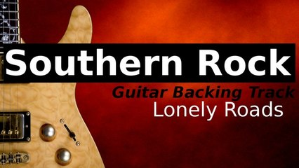 SOUTHERN ROCK BALLAD Guitar Backing Track in A Minor - Lonely Roads