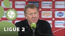 Conférence de presse Stade Brestois 29 - AC Ajaccio (2-1) : Alex  DUPONT (SB29) - Olivier PANTALONI (ACAJ) - 2014/2015
