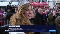Miss France 2015, Camille Cerf, de retour sur ses terres