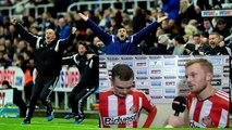 Newcastle United vs Sunderland 0 - 1 Adam Johnson & Sebastian Larsson post-match interview.