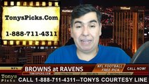 Baltimore Ravens vs. Cleveland Browns Free Pick Prediction NFL Pro Football Odds Preview 12-28-2014