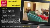 A vendre - maison - SALLES D AUDE (11110) - 6 pièces - 160m²