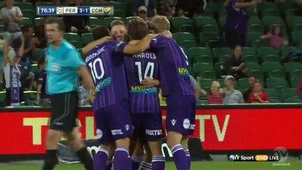 Daniel De Silva Amazing Volley Goal - Perth Glory 3-1 Central Coast Mariners (A-League 2014)