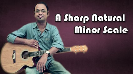 How To Play - A Sharp Natural Minor Scale - Guitar Lesson For Beginners