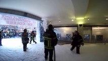 Les pompiers en colère à Namur