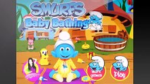 Smurf Baby Bathing and dress up game jeux de Schtroumpfs cartoons video ♛♛۩۞۩❤♚ games for kids