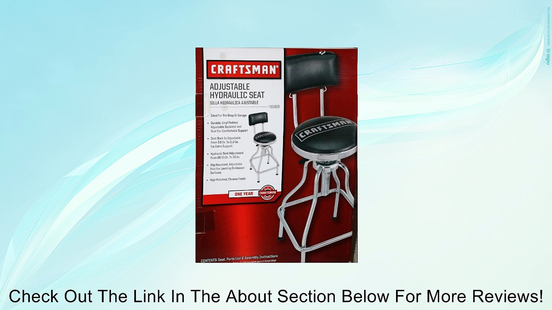 Astonishing Craftsman Adjustable Hydraulic Seat Stool Black Review Ncnpc Chair Design For Home Ncnpcorg