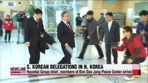 Hyundai Group chief & members of Kim Dae Jung Peace Center in N. Korea