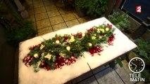 Une composition florale de Noël