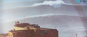 NAZARE, plus grose vague du monde (30m), surfées le 11 dec par les plus fous des surfeurs du monde
