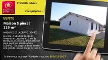 A vendre - maison - AMBARES ET LAGRAVE (33440) - 5 pièces - 119m²