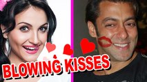 Salman Gets Blowing KISSES From Eli Avram