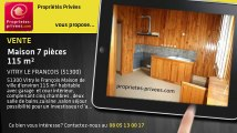 A vendre - maison - VITRY LE FRANCOIS (51300) - 7 pièces - 115m²