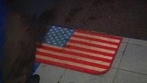 Moscow mall's doormats sport U.S. flag emblem
