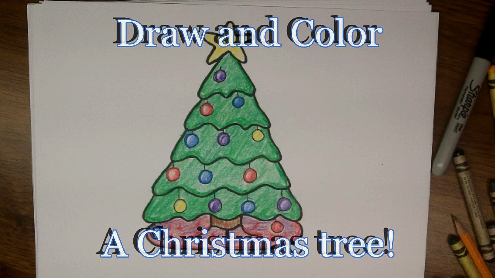 How To Draw A Cartoon Christmas Tree Easy Tutorial For Kids Video Dailymotion Stay tooned for more free drawing lessons by: dailymotion