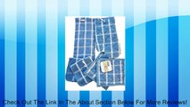 6 Piece Set - 2 Blue Terry Cloth Potholders - Blue Terry Cloth Oven Mitt - Blue Terry Cloth Dishtowel - 2 Blue Terry Dishrags Review
