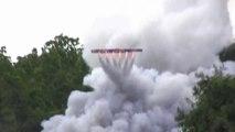 Tirs de feu d'artifice fait maison : une fusée circulaire qui tourne comme une toupie! Dingue...