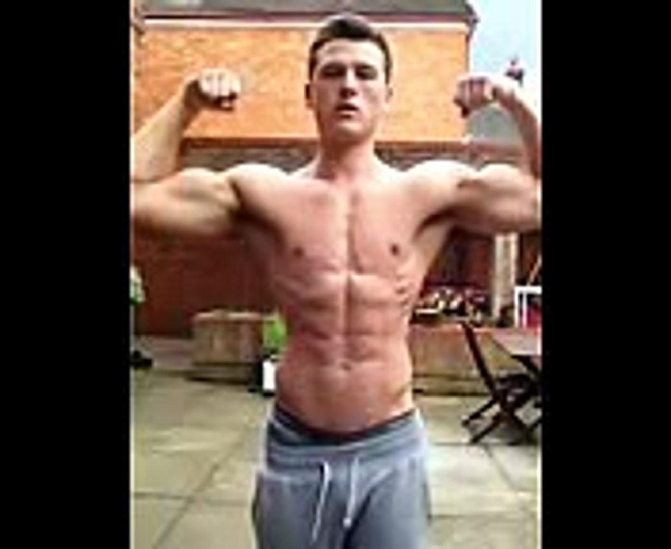 Fitness Muscle Building UNREAL Teen 6 pack abs Flexing Preview by fitness Lewis Morgan