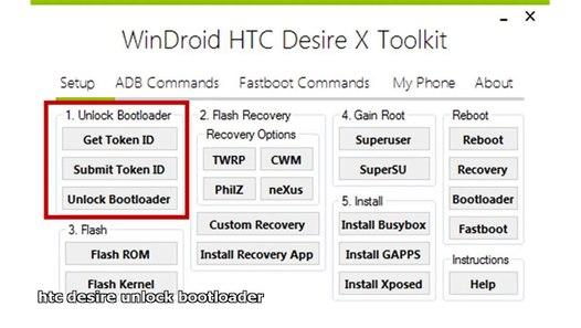 htc desire unlock bootloader