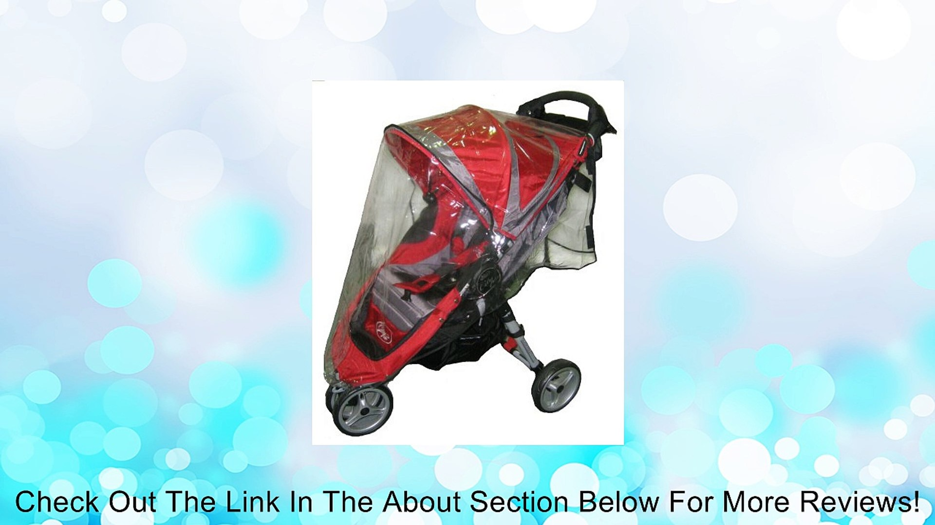 Sashas Rain and Wind Cover for Baby Jogger City Mini Single Stroller Review