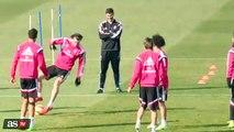 Real Madrid: Gareth Bale y una caída que provocó varias risas entre sus compañeros (VIDEO)