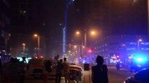 """Dubai le 20/02/2015:  tour """"Torch Tower"""" 79 étages 332m, incendie au 51 eme étage, 20 étages détruits"""