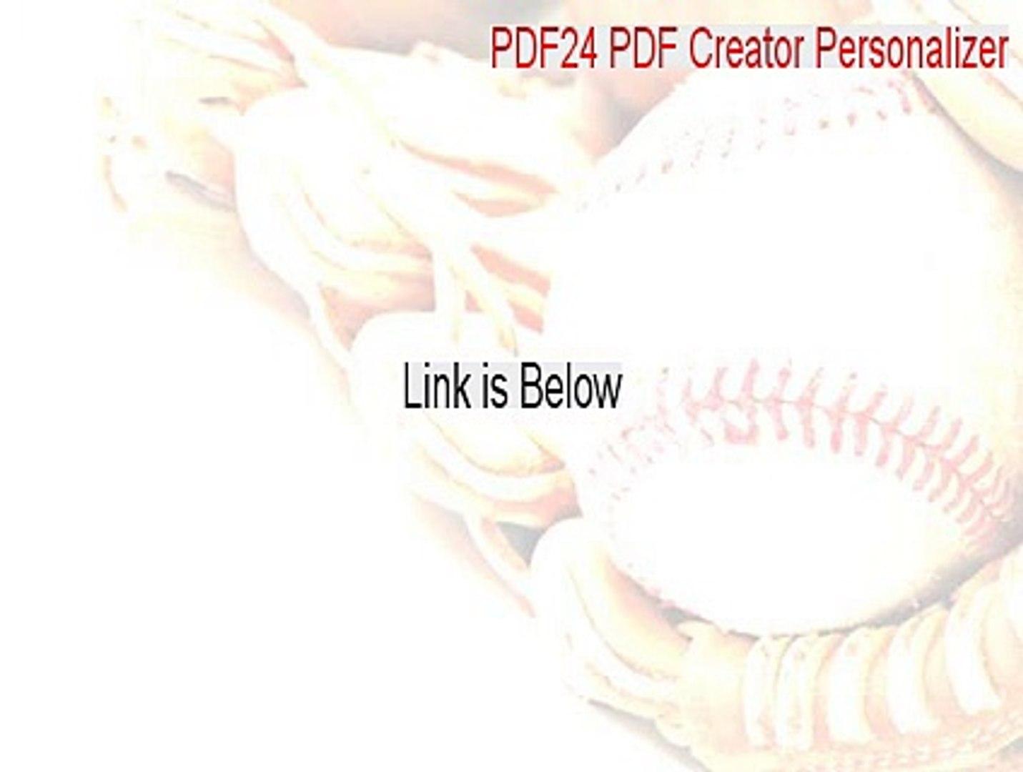 PDF24 PDF Creator Personalizer Serial - PDF24 PDF Creator Personalizer  (2015)
