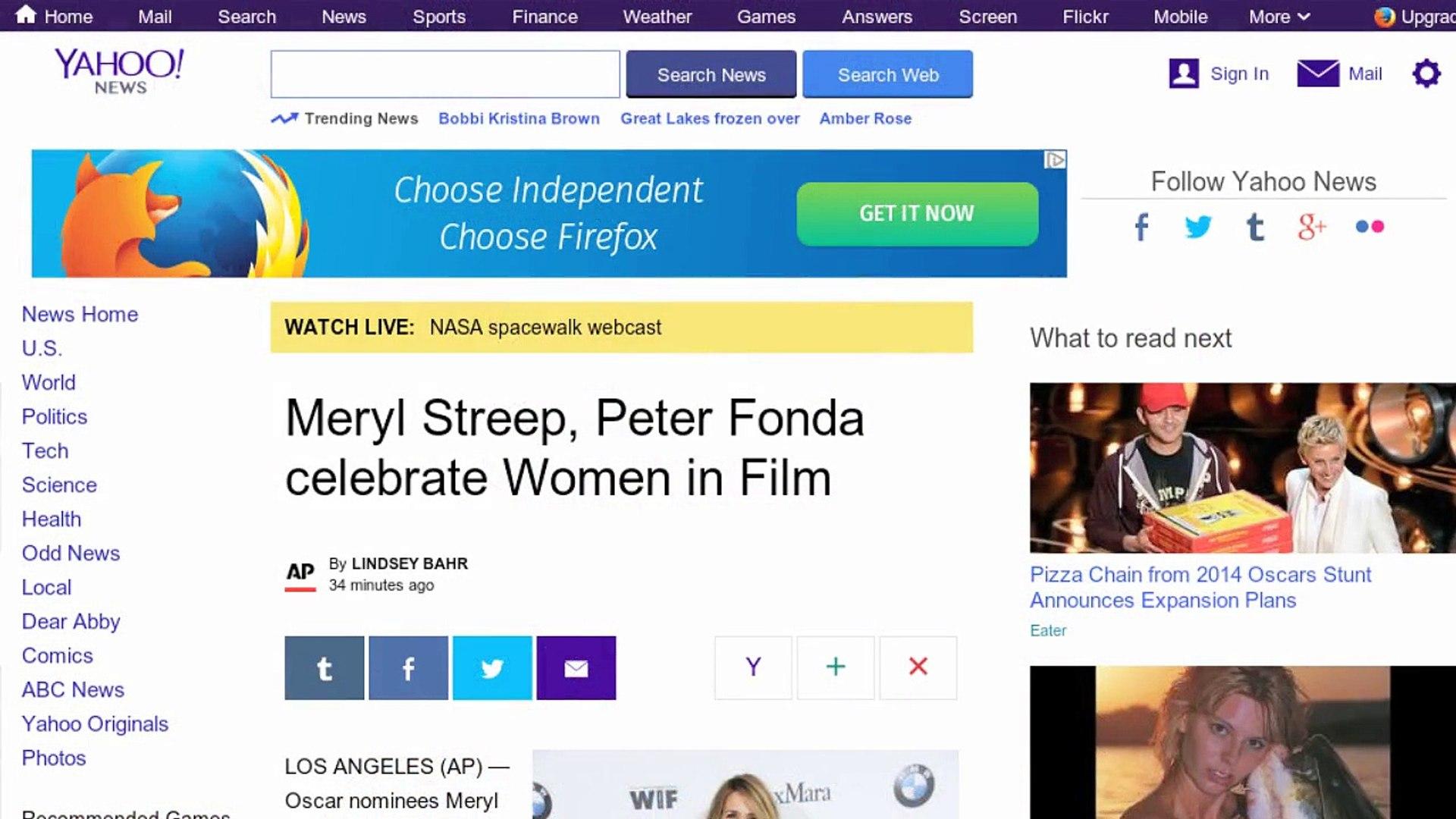 Meryl Streep, Peter Fonda Celebrate Women in Film