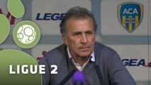 Conférence de presse AC Arles Avignon - Stade Brestois 29 (1-0) : Victor ZVUNKA (ACA) - Alex  DUPONT (SB29) - 2014/2015