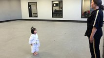 3 Year Old White Belt Reciting the Student Creed (HD)