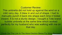Rainkist Bubble Umbrella - Clear Dome Shaped Rain Umbrella, 20020-133 Review