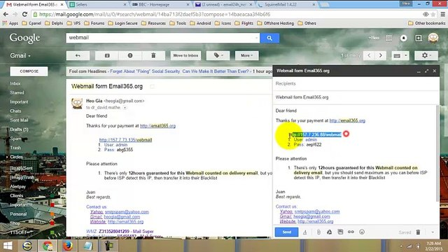 Buy INBOX SMTP | Mailer | Webmail with Perfect Money | Webmoney | Bitcoin | Credit Card