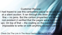 167 Sets of 3 Part NCR� Paper 5909 -- Straight Collated, Letter Size Carbonless Paper Review
