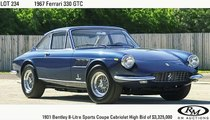 1967 Ferrari 330 GTC hammers for $930k USD + fees
