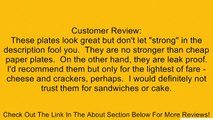 """White 6"""" Plastic Plates - 100 Count Review"""