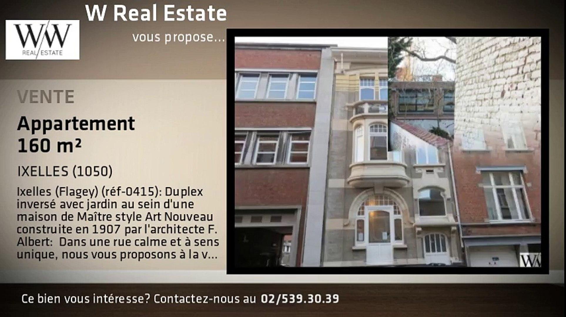 A Vendre Appartement Ixelles 1050 160m Video Dailymotion
