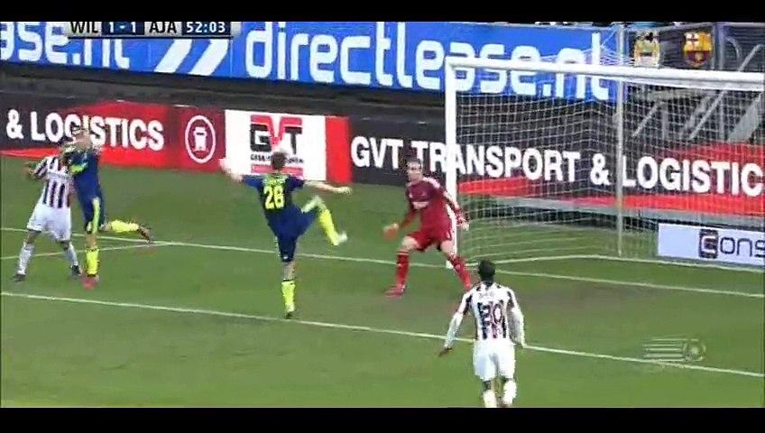 Goal Messaoud - Willem II 1 - 1 Ajax- 22-02-2015